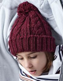 Junior Cable Knit Melange Beanie